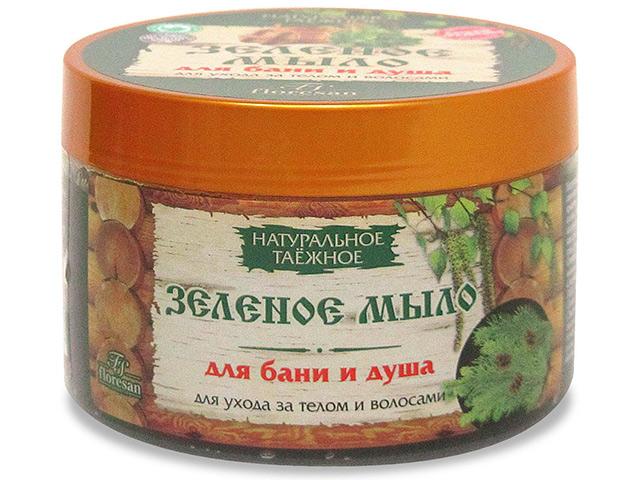 """Мыло жидкое Натуральное Таежное """"Зеленое мыло"""" для бани и душа 450 мл"""
