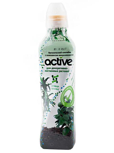 ACTIVE Для Декоративно-лиственных растений, 0,5 л, органический коктейль с комплексом микроэлементов