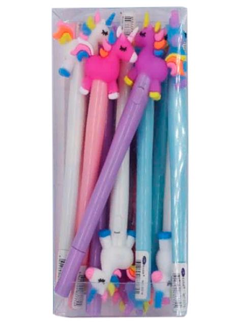 """Ручка шариковая Basir """"Единорог"""" с фонариком, корпус пластиковый, синяя"""