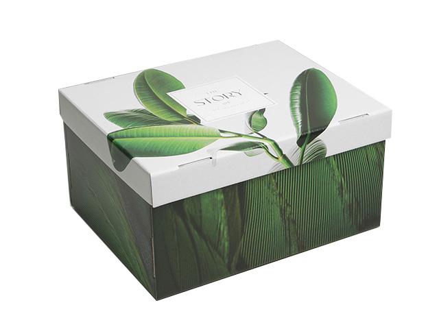"Коробка подарочная складная ""Листья"" 31,2х25,6х16,1см"