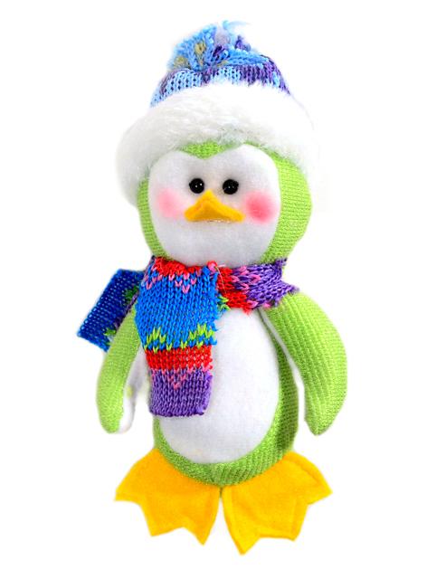 Игрушка мягкая Пингвин в шапочке 12см., полиэстер