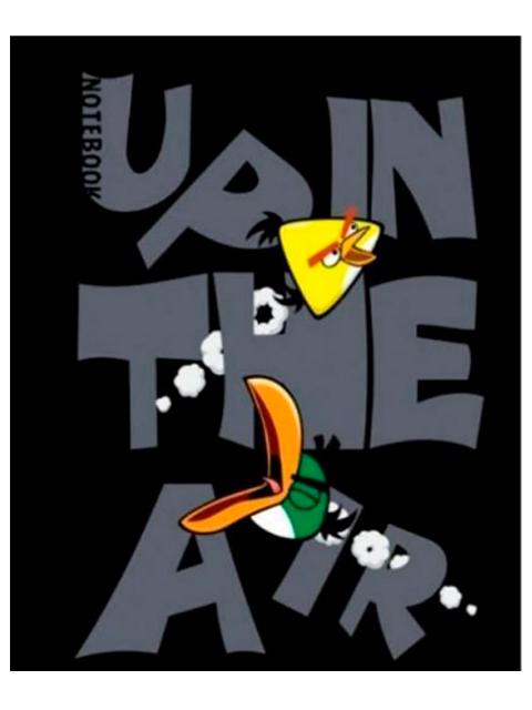 """Бизнес-блокнот А6 160 листов Хатбер """"Angry Birds"""" обл. интегр."""