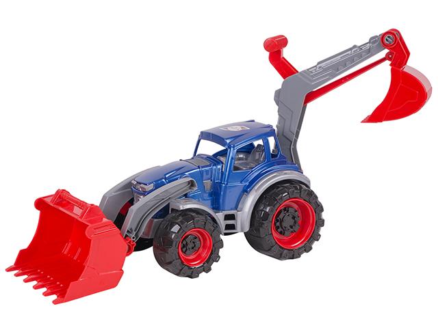 """Игрушка """"Трактор Техас погрузчик-экскаватор"""""""