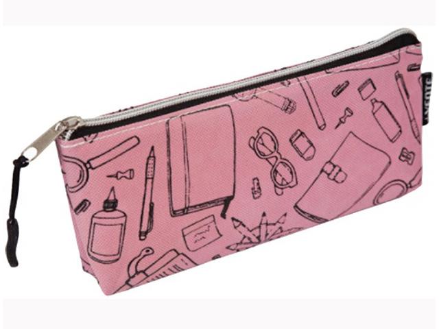 """Пенал-косметичка deVENTE """"School розовый"""" 21x8x3,5 см, текстильный"""