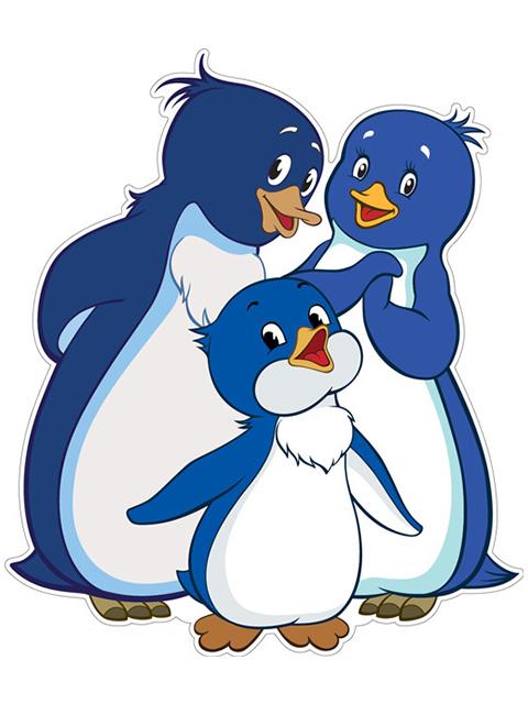 """Плакат вырубной """"Союзмультфильм. Пингвиненок Лоло с семьей"""""""