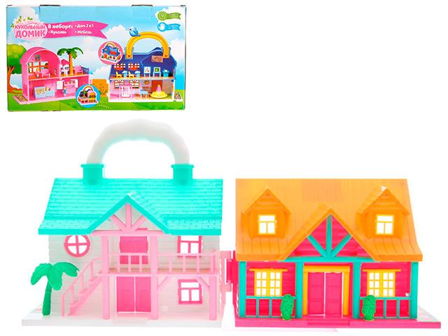 """Игровой набор """"Кукольный дом.Коттедж 2 в 1"""""""