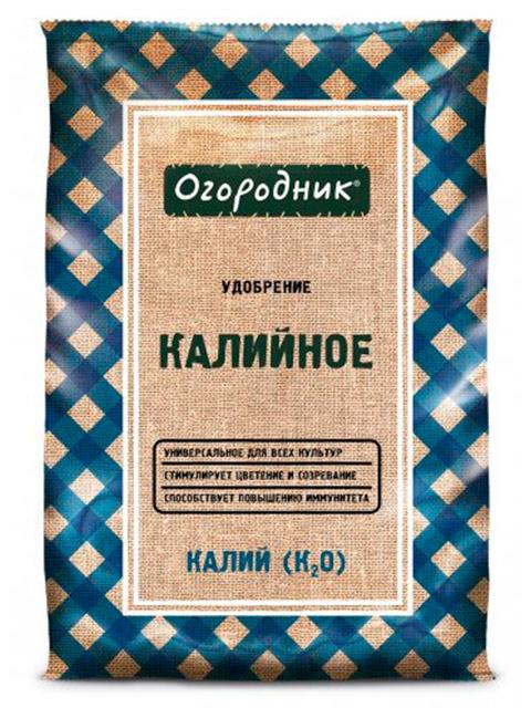 """Калийное удобрение """"Огородник"""" сухое, минеральное, гранулированное 0,7кг."""