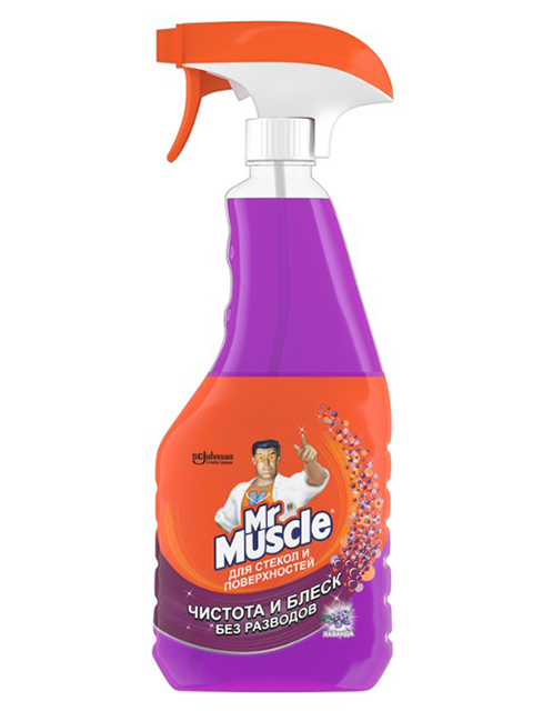 Mr.Muscle Средство для мытья стекол Лаванда 500 мл, курок
