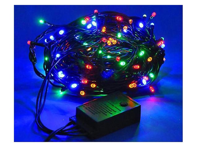 """Гирлянда электрическая 100 ламп """"Рис"""" 8 режимов, 4 цвета, 5,2 м"""