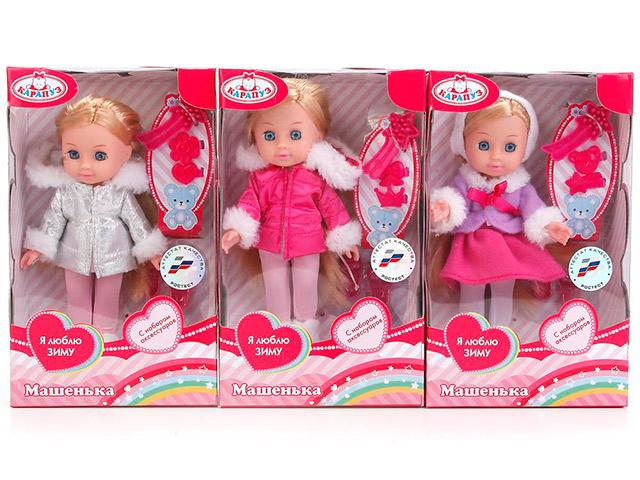 """Кукла """"Машенька"""" 15 см, в зимней одежде с аксессуарами, в картонной упаковке"""