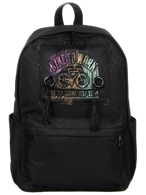 Рюкзак подростковый 42х28,х13 см, 1 отделение, 4 кармана, черный
