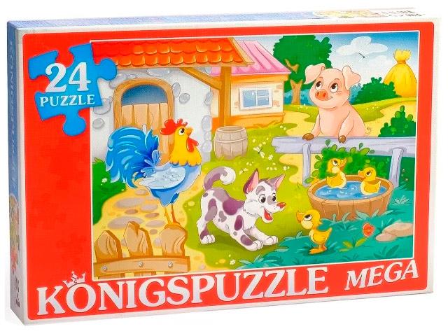 "Пазлы 24 элемента мега 480х320 Konigspuzzle ""Большая ферма"""