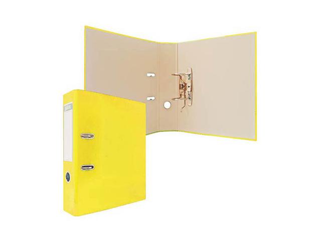 Регистратор А4 Index 80 мм ламинированный, желтый