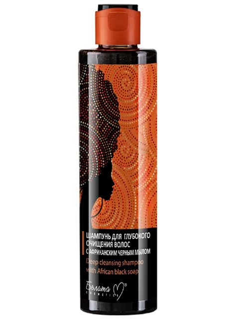 """Шампунь Bielita """"African black soar"""" для глубокого очищения волос, с африканским черным мылом, 250г"""