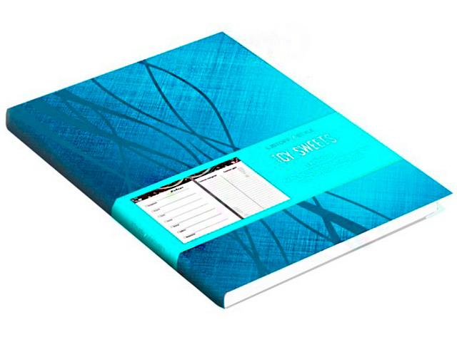 """Ежедневник недатированный А6 96 листов """"ICY SWEETS"""" обл. иск. кож, ляссе, голубой"""