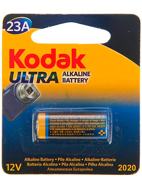 Батарейка алкалиновая Kodak ULTRA 23А-1BL (1 шт) блистер, кор. (60 уп)