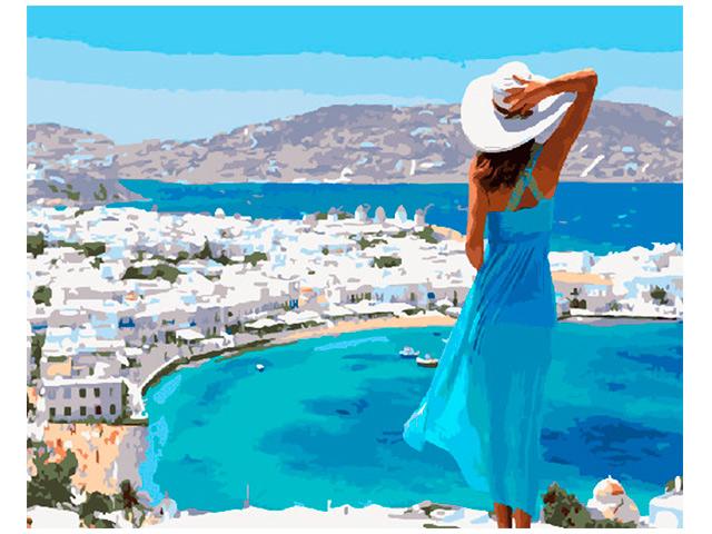 """Картина по номерам PaintBoy """"Панорама солнечной Греции"""" 40*50см"""