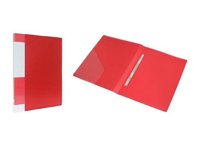 """Папка А4 с пружинным скоросшивателем и карманом Berlingo """"Standard"""" 17 мм. красная"""