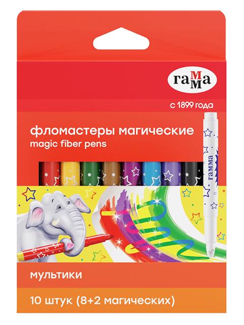 """Фломастеры Гамма """"Мультики"""" 16 цветов, магические, в картонной упаковке с подвесом"""
