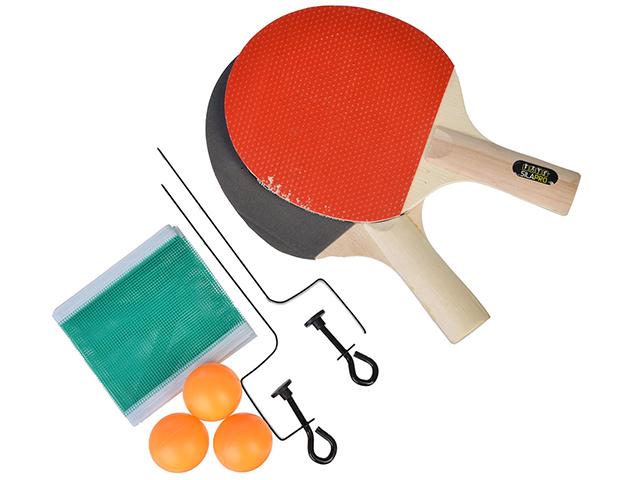 Набор для настольного тенниса SILAPRO ( 2 ракетки, 3 мяча, 2 держателя для сетки, сетка) в блистере
