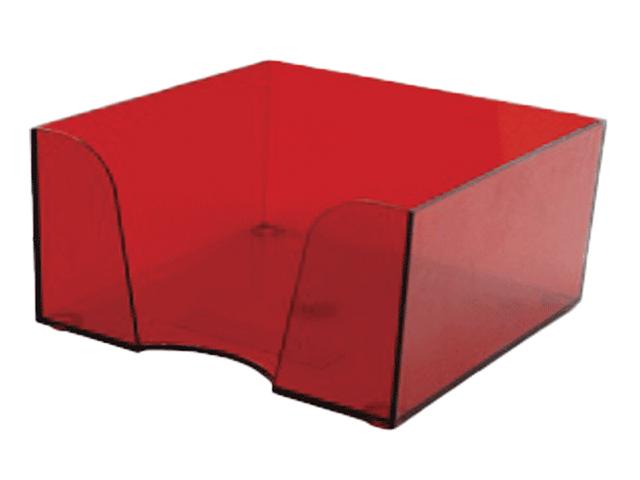 Подставка для блок-кубиков deVENTE, 9х9х5 см, пластиковая, прозрачная, бордо