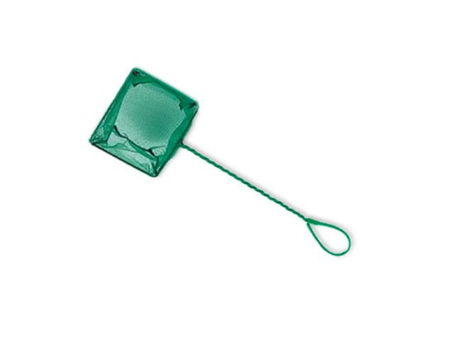 Сачок квадратный зеленый 12х10,5см, ручка 27см