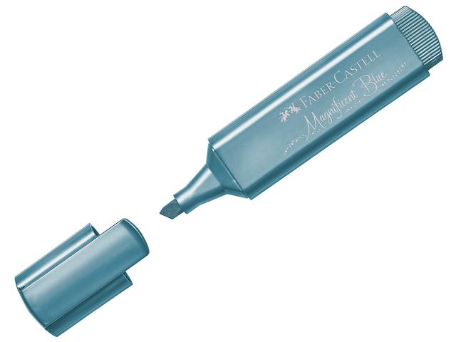 """Текстовыделитель Faber-Castell """"TL 46"""" 1-5 мм, скошенный, металлик синий"""