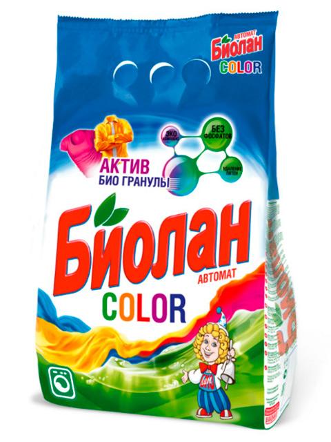 БИОЛАН СМС Порошок-автомат Color 1200 г