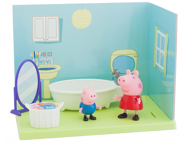 """Игровой набор """"Ванная комната Пеппы и джорджа."""""""