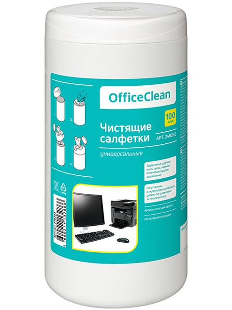 Салфетки универсальные Office Clean 100 шт в тубе