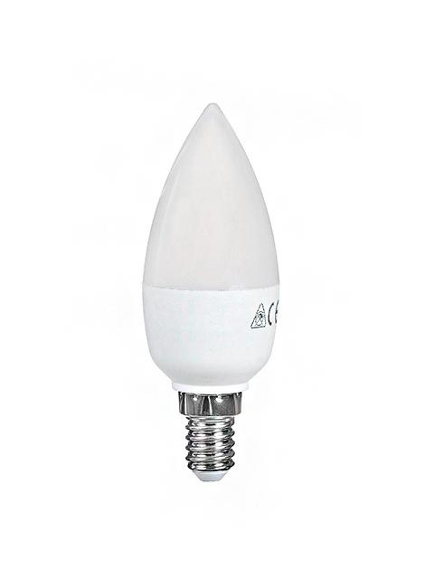 Лампа светодиод. LED CN 7Вт (эквивалентна лампе накаливания 60Вт), Е14, 4500К(холод. свет) Космос