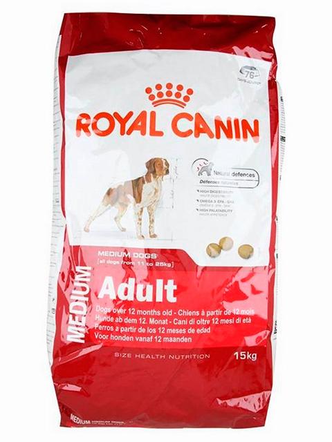 Корм РК Медиум Эдалт 15 кг (для взрослых собак средн. пород 12 мес-7 лет)