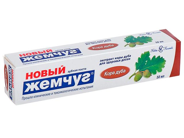 "Зубная паста Новый Жемчуг ""Кора дуба"", 50 мл"