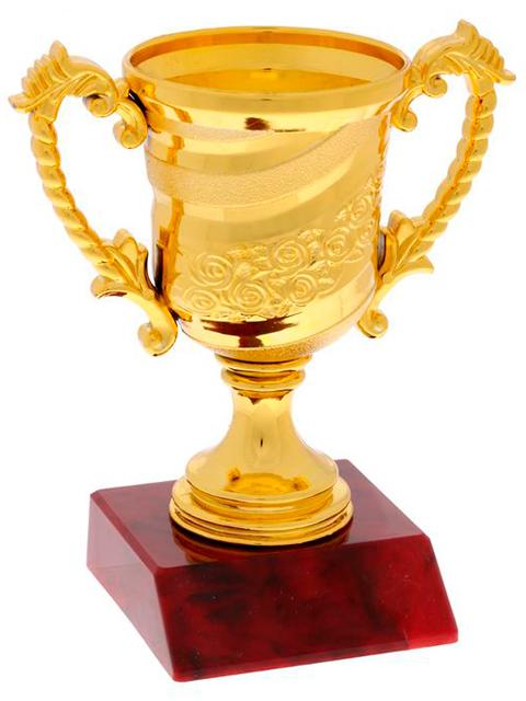 Кубок спортивный 105 Золото, 12,5х10,6х6,5 см, пластик