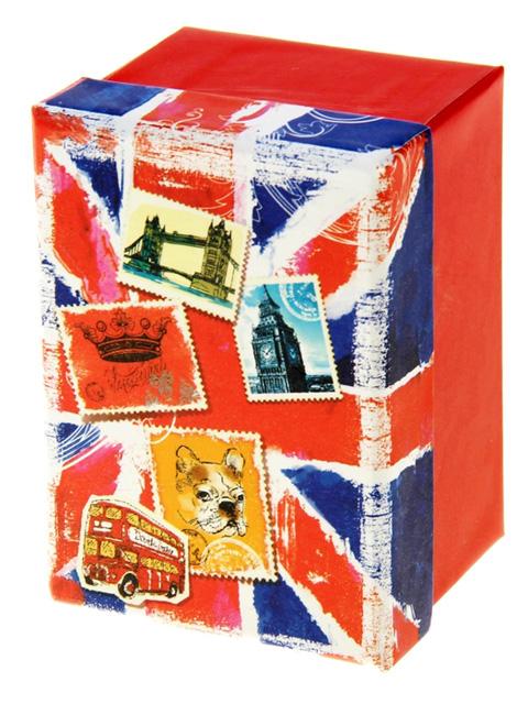 "Коробка подарочная прямоугольная ""Британский флаг"" 7х10х6см"