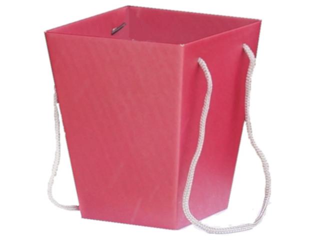 Коробка для цветов Яркий Мир, 125х180х225 мм, красная