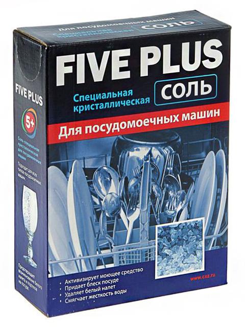 Соль для посудомоечных машин Five Plus, специальная кристаллическая, 1,5 кг