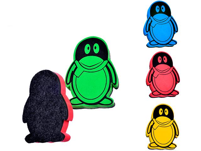 """Губка-стиратель для маркерной доски Mazari """"Пингвин"""" 10,4х7,5х2мм, материал EVA,фетр"""