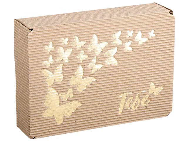 "Коробка подарочная складная ""Тебе"" 21х15х5 см, рифленая"