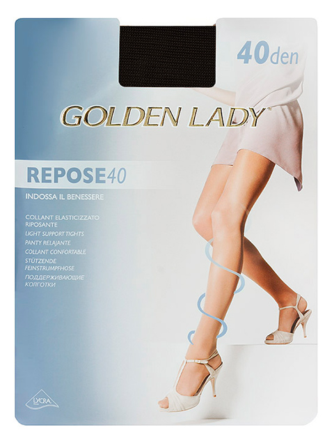 "Колготки женские Golden Lady ""Repose 40"" Nero 3-M"
