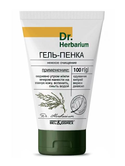 """Гель-пенка Belkosmex """"Dr. Herbarium"""" нежное очищение 100г."""