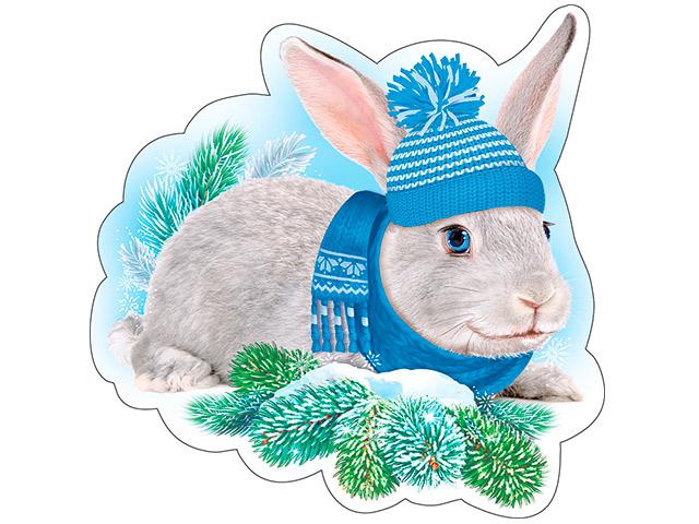 """Украшение """"Кролик в шапочке"""" на скотче"""
