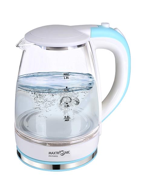 Чайник электрический MAXTRONIC МАХ -100, 1,8 л, 1800 Вт, жаропрочное стекло