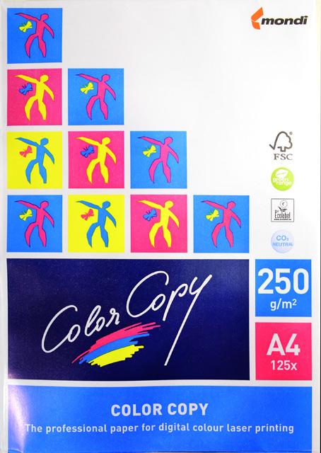 Бумага для цветной лазерной печати Color Copy (А4, 250 г/кв.м, белизна 161% CIE, 125 листов)