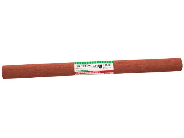 """Бумага крепированная """"Greenwich Gl Line"""" 50х250 32 г/м2, коричневая"""