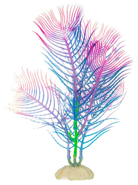 """Растение пластик для аквариума """"Наяда сине-фиолетовая"""" 16см"""