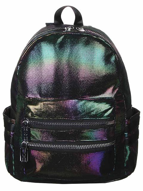 Рюкзак подростковый 38х28х13 см, 1 отделение, исскуственная кожа, переливающийся полиэстер
