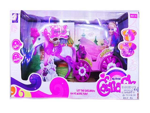 """Игрушка """"Карета с лошадью"""", в коробке 30х16х10см"""