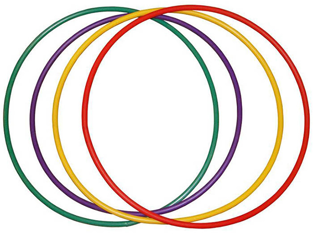 Обруч Absolute Champion пластиковый d=540 мм, лайм (зеленый)