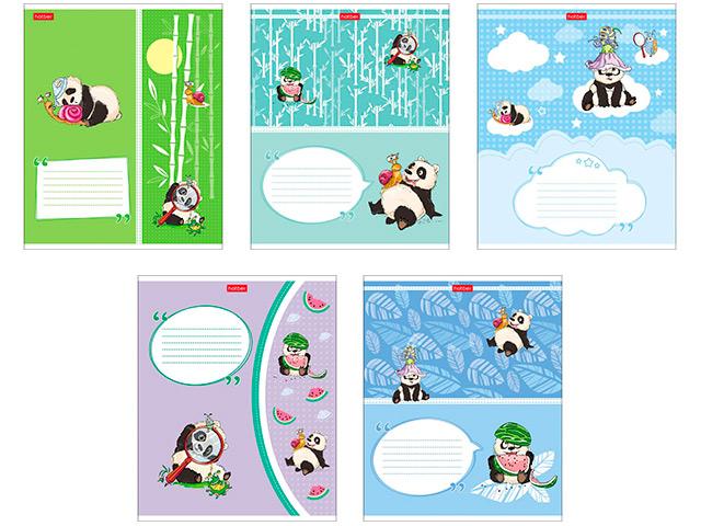 """Тетрадь А5 24 листа в клетку Хатбер """"Приключения маленькой панды"""""""
